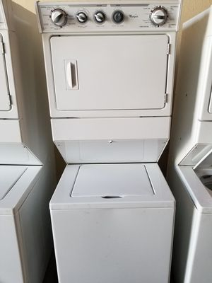 Whirlpool stackable washer and GAS dryer works great fully functional very clean for Sale in Cerritos, CA