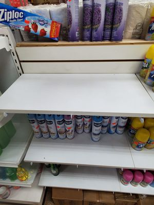 """24"""" white shelves with 2 white metal hooks for Sale in Chicago, IL"""