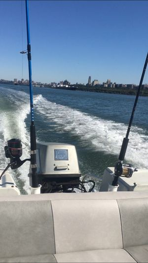 17ft boat and trailer fall special for Sale in Haworth, NJ
