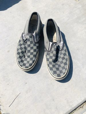Black and gray checkerd vans size 6 men's for Sale in Fontana, CA