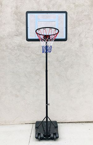 "(New in box) $65 Junior Kids Sports Basketball Hoop 31x23"" Backboard, Adjustable Rim Height 5' to 7' for Sale in Whittier, CA"