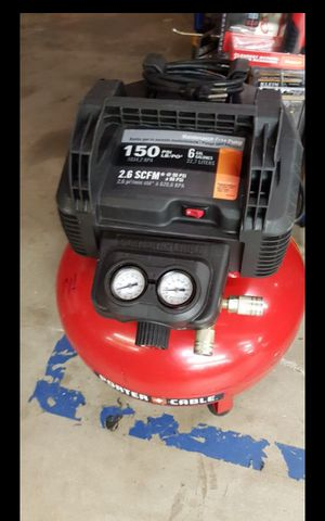 PORTER CABLE CORDED 6 GALLONS AIR COMPRESSOR for Sale in San Bernardino, CA
