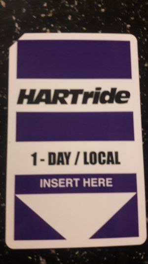 HART - 1 day local bus passes for Sale in Tampa, FL