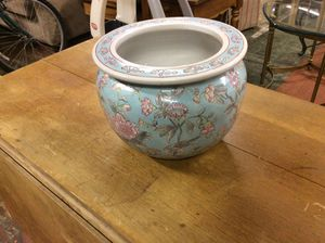 Ice blue and pink flower pot for Sale in Bellingham, MA