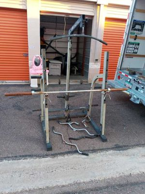 Weight bench squat, cable pulls for Sale in Glendale, AZ
