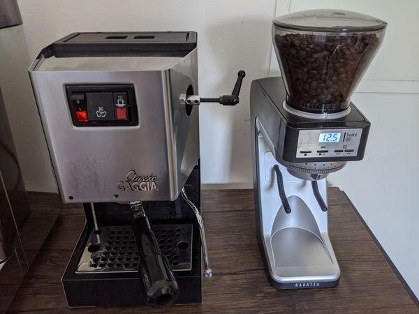 Gaggia Classic Espresso Machine with Baratza Grinder