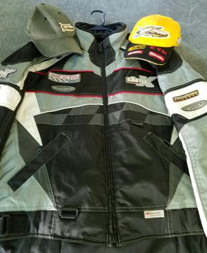 Castle Snowmobile Coat and 2 hats for Sale in Dudley, MA
