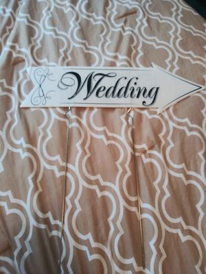 "Wedding directional sign 24"" long for Sale in Gaithersburg, MD"
