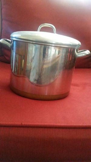 Revere ware 10qt copper clad stainless steel stock pot for Sale in Dunedin, FL