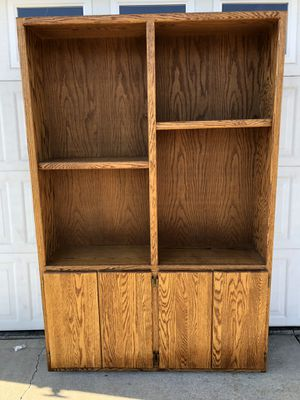 Large Oak Cabinet Hutch - $60 for Sale in Vancouver, WA