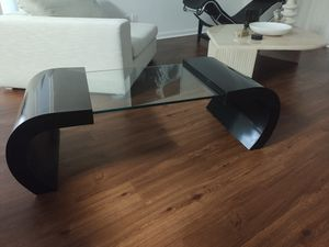 Black Lacquer Curved Glass Coffee Table for Sale in Boca Raton, FL