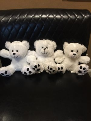 Three baby bear soft and cuddle stuffed animals for Sale in Boca Raton, FL