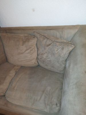 Free for pick upTan suede loveseat couch for Sale in Orlando, FL