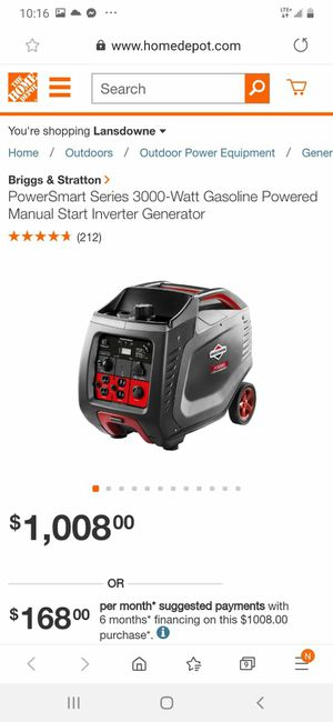 Generador brich stractur 3000 for Sale in Springfield, VA
