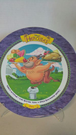 VINTAGE1997 DISNEY HERCULES PHIL, 9 INCH PLATE for Sale in Calexico, CA