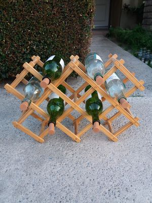 Brand NEW Foldable Wood Wine Rack for Sale in Fullerton, CA