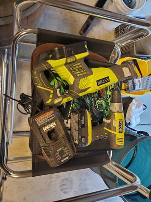 Ryobi 18v drill and reciprocating saw plus charger and batteries for Sale in Antioch, CA
