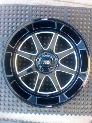 "KMC XD 5 Lug Gloss Black 20"" Wheel Rim for Sale in Garden Grove, CA"
