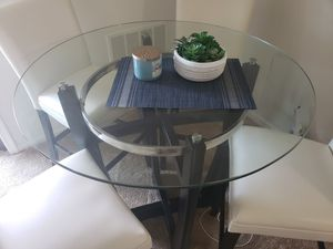 Glass top dining table for Sale in Alexandria, VA