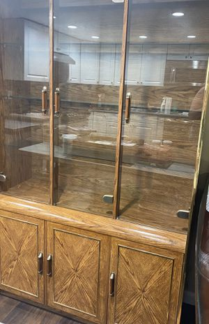 Formica Woodgrain China closet for Sale in Staten Island, NY
