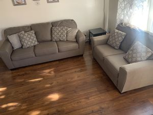Taupe sofa and loveseat set for Sale in Hayward, CA