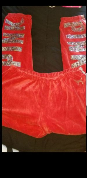 PINK bling suede sweats for Sale in San Jose, CA