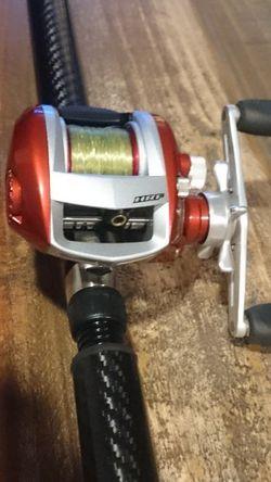 Daiwa HRF Saltwater Fishing Reel LAMIGLASS XMG 50 Fishing Rod for Sale in Escondido,  CA