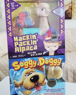Kids Board Games $25 for both or $15 each •Soggy Doggy •Hackin Packin Alpaca for Sale in Long Beach, CA