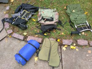 CAMPING GEAR HIKING BACKPACKS TENT SLEEPING BAGS. READ DETAILS for Sale in University City, MO