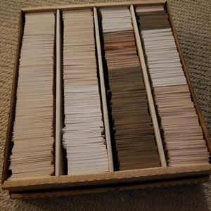 large box full of vintage mixxed baseball cards for Sale in St. Petersburg, FL
