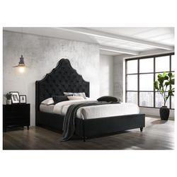Black Velvet Platform Bed Frame for Sale in Vernon,  CA