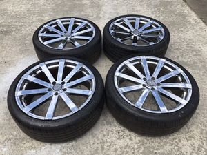 20 INCH VELOCITY RIMS AND TIRES 5x112 for Sale in Auburn, WA