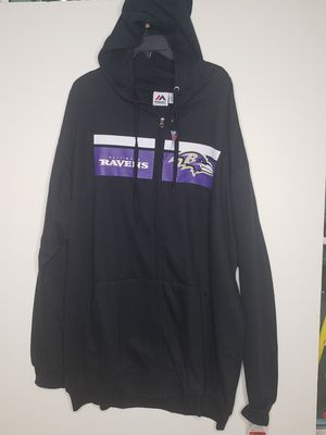 3XLT -- Baltimore Ravens hoodie hoody sweatshirt by Majestic big and tall NWT for Sale in Annapolis, MD