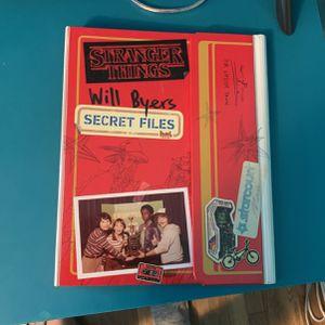 Stranger Things Will Byers Secret Files Book for Sale in Tujunga, CA