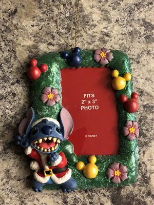 """Disney Stitch Christmas Ornament Picture Frame 2""""x3"""" for Sale in Spring Hill, FL"""