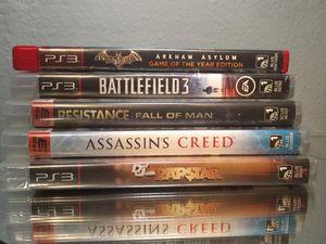5 PS3 game lot - Bat Man DefJam Assassin's Creed Battlefield Resistance for Sale in Lawndale, CA