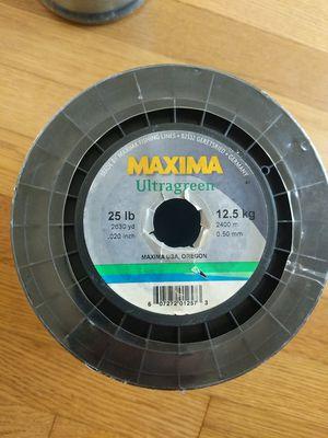 Maxima Ultragreen Bulk Fishing Line 25 lb - 2630 yd MBG 25 for Sale in Portland, OR