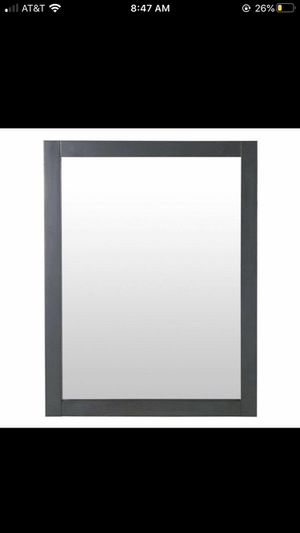 Home Decorators Collection Hanley 31 in. x 24 in. Framed Wall Mirror in Charcoal Gray-NEW for Sale in Winston-Salem, NC