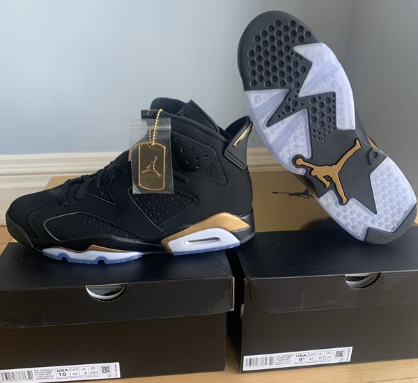 Air Jordan 6 Retro DMP Black Metallic Gold 2020 With Receipt size: 6y-6.5y -8-10.5-11-12
