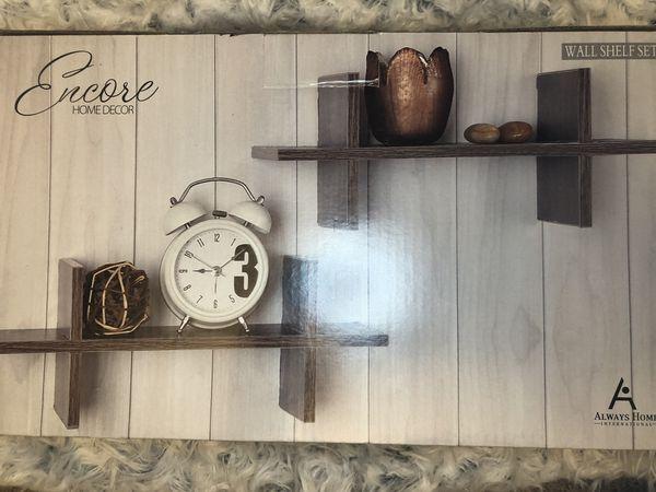 Wall shelf set