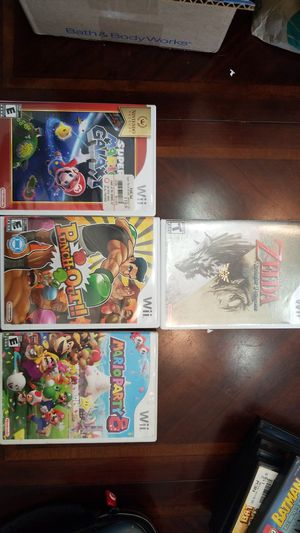 Nintendo wii games. Classic wanted titles. Punch out Mario zelda and mario party for Sale in Pembroke Pines, FL