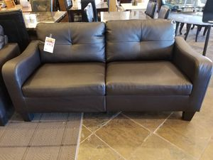 Espresso Bonded Leather Sofa for Sale in Phoenix, AZ