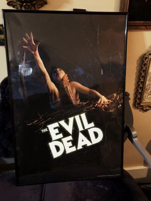 Evil Dead 24x36 poster with black frame for Sale in Davenport, IA