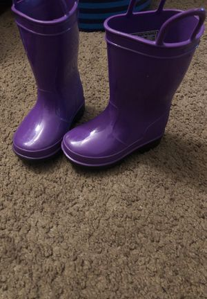 Purple rain boots for Sale in Alexandria, VA