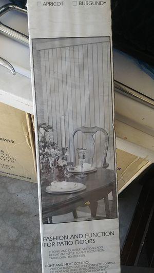 Vertical blinds brand new in box white 78 in x 84 in for Sale in Phoenix, AZ