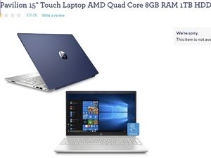 "HP 15"" Touchscreen Laptop for Sale in Lawndale, CA"