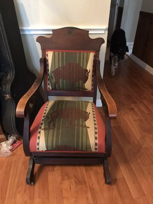 Antique buffalo chair for Sale in Mansfield, TX