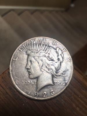 """1923 silver dollar """"peace"""" for Sale in Pleasanton, CA"""