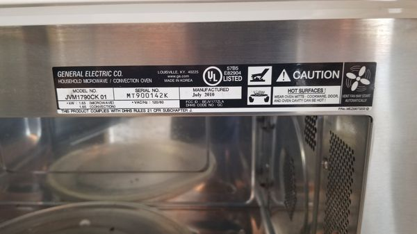 GE over the range microwave (firm price)