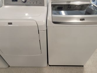 Maytag Tap Load Washer And Electric Dryer Set Used In Good Condition With 90day's Warranty for Sale in Mount Rainier,  MD